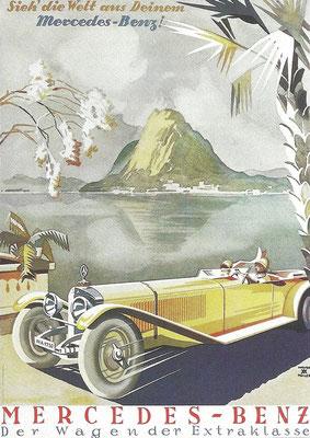 Affiche van Mercedes-Benz.