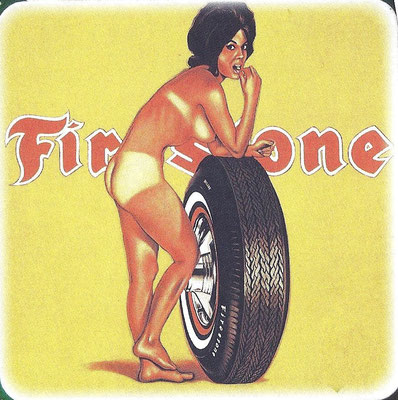 Firestone reklame uit ca. 1960, een ontwerp van Vargas.