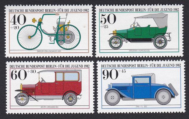 Postzegels Duitsland Berlijn uit 1982.