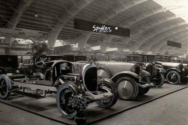 RAI 1923 met de stand van Spyker.