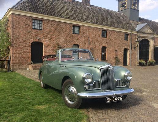 Sunbeam MK III cabriolet uit 1955.