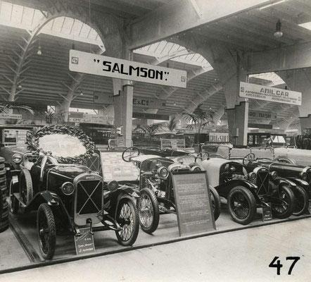 Salmson in de stand van De Handelsgeest uit Amsterdam op de RAI in 1924.