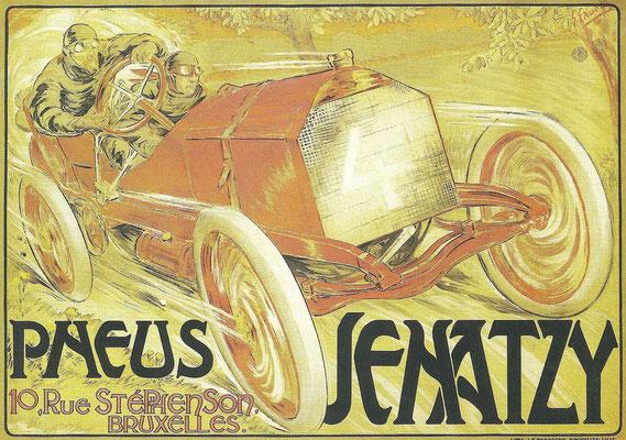 Affiche Senatzy banden van G. Gandy uit 1907.