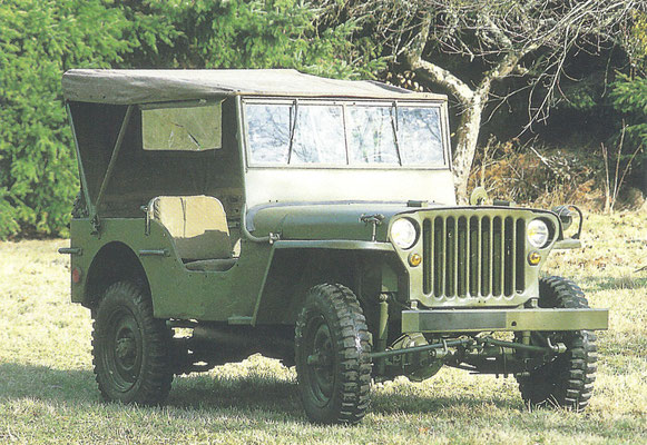 De Willys Jeep werd gebouwd van 1941 tot 1945.