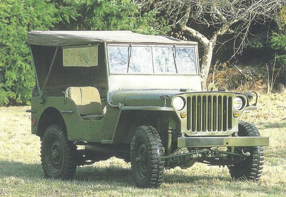 Willys Jeep werd gebouwd van 1941 tot 1945.