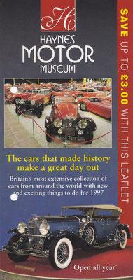 Folder Haynes Motor Museum, Sparkford (Engeland).