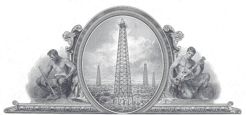 Het vignet op een aandeel Standard Oil Company.