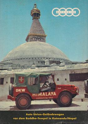 Reclame voor Auto Union / DKW uit 1958.