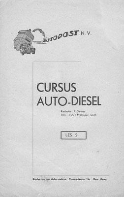 Cursus Auto-Diesel van Autopost N.V. 15 lessen.