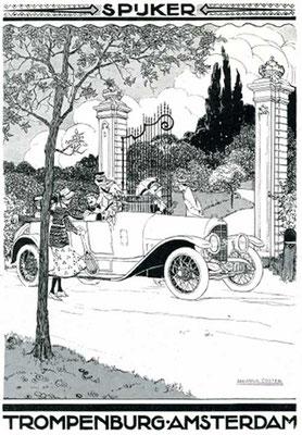 Een advertentie voor Spyker uit 1919.