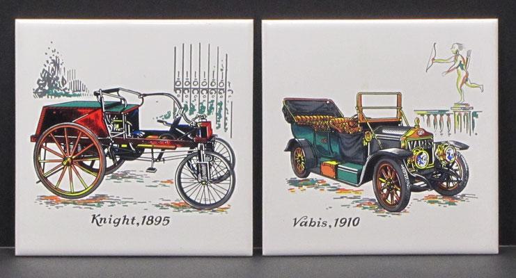 Tegels met historische auto's.