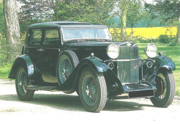 Een Sunbeam Speed Twenty (1933-1935).