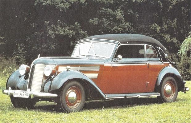 Audi Typ 920 Cabriolet uit 1939.