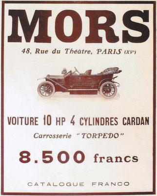 Franse advertentie van Mors.