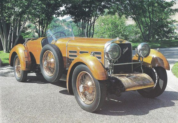 Hispano-Suiza H6 uit 1924 met een carosserie van tulpeboomhout.