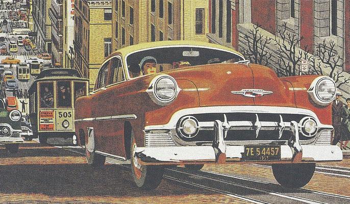 Een Chevrolet uit 1953.
