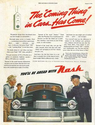 Amerikaanse advertentie van Nash uit 1946.