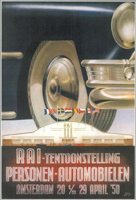 Affiche voor de RAI 1950.