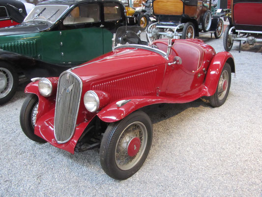 Fiat Roadster Type 508S Balilla uit 1936. (Collection Schlumpf)
