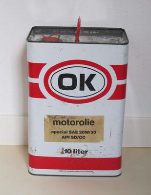 Olieblik OK 10 liter.