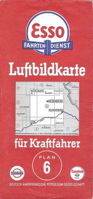 Luftbildkarte für Kraftfahrer; Esso Fahrten-Dienst, Plan 6 (vóór 1940).