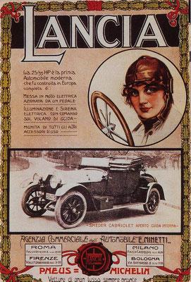 Een Italiaanse advertentie van Lancia.