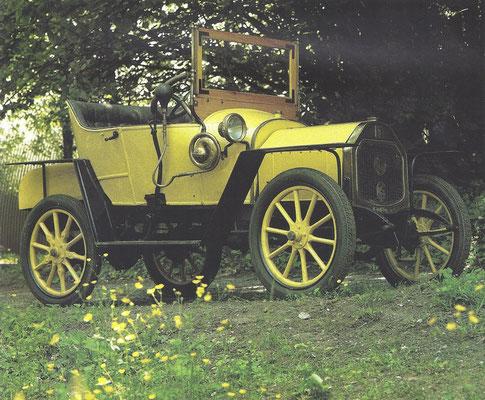 Een Le Zèbre 8 HP uit 1913.