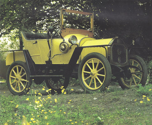 Le Zèbre 8 HP uit 1913.
