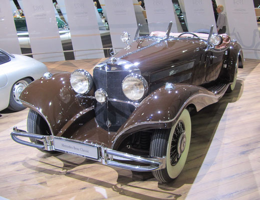 Een Mercedes-Benz 500 K Spezial-Roadstar op de Techno Classica 2016 in Essen.