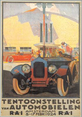 Een affiche voor de RAI 1924.