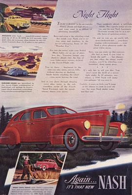 Een Amerikaanse advertentie van Nash uit 1940.