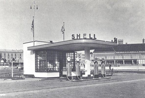 Shell tankstation 1950.