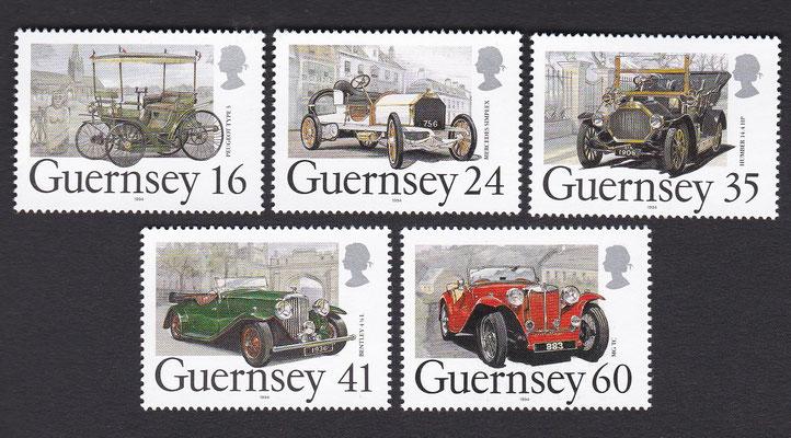 Postzegels Guernsey uit 1992.
