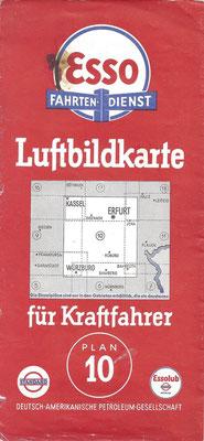 Luftbildkarte für Kraftfahrer, Esso Fahrten-Dienst, Plan 10 (vóór 1940).