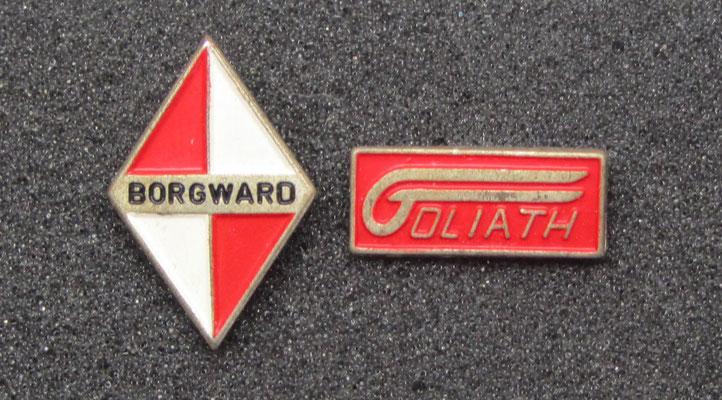 Borgward en Goliat speldjes.