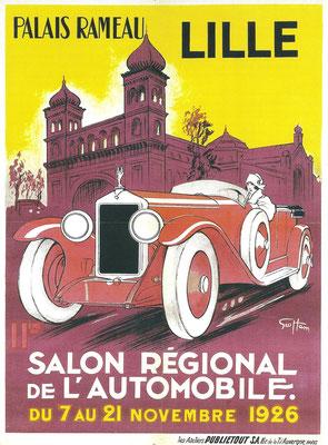 Affiche voor de Salon in 1926 in Lille, een ontwerp van Geo Ham.