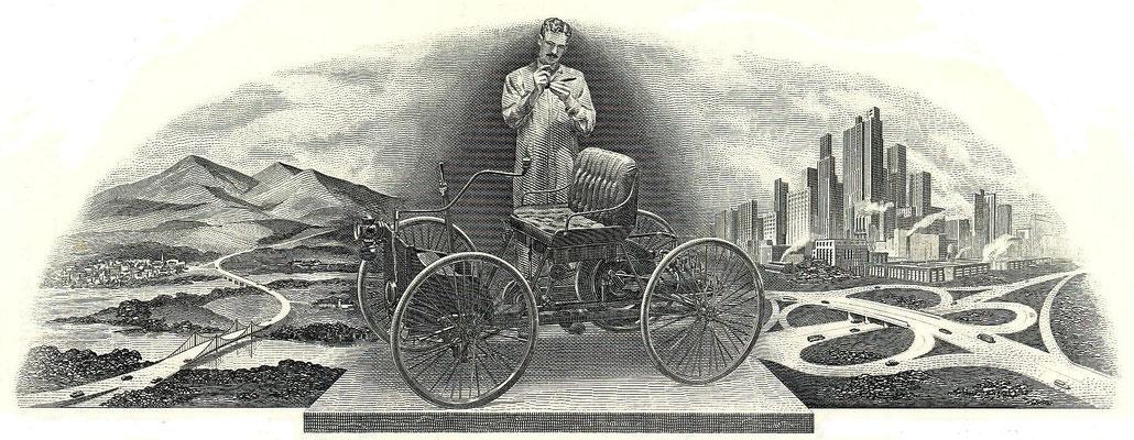 Vignet op een aandeel Ford Motor Company.