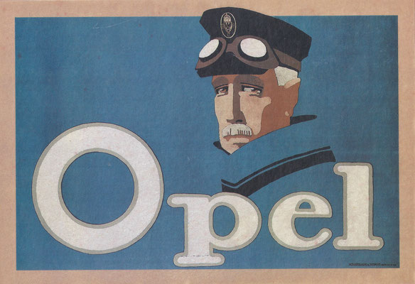 Een affiche van Opel.