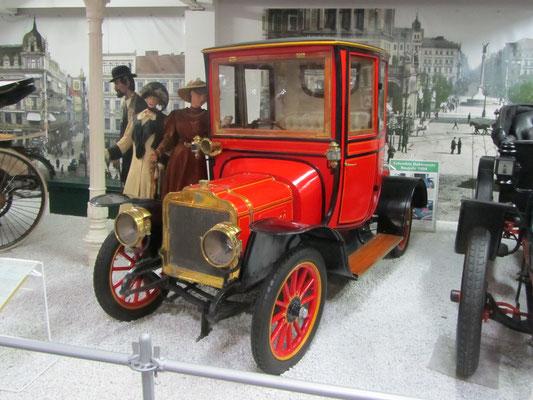 Brasier Stadtcoupé uit 1908, (Technik Museum Sinsheim)