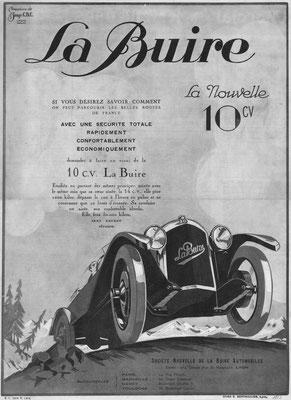 Franse advertentie van La Buire uit 1923.
