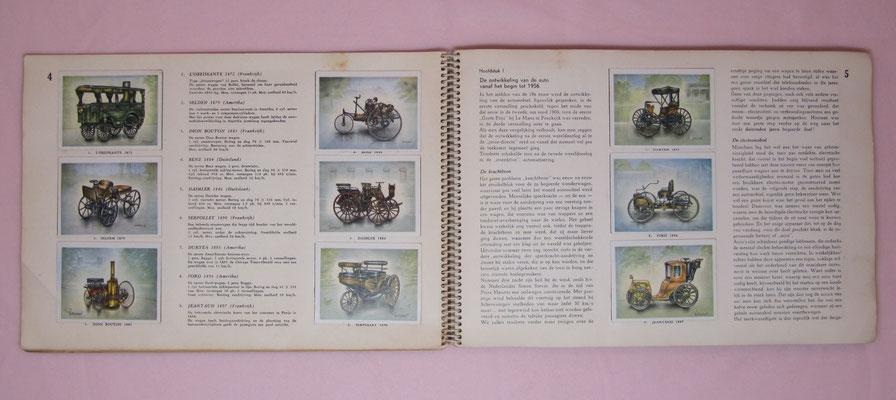 Over auto's en autorensport, 1956, met 192 kleurenplaatjes, door Piet Olyslager. Uitgegeven door United Tobacco Agencies.