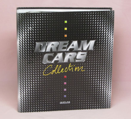 Dream Cars Collection, kaarten in een opbergmap, uitgegeven door Atlas in 1998.