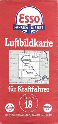 Luftbildkarte für Kraftfahrer, Esso Fahrten-Dienst, Plan 18 (vóór 1940).