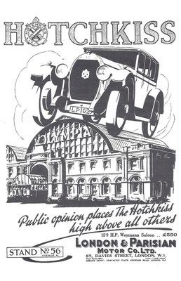 Een Engelse advertentie voor Hotchkiss uit 1926.