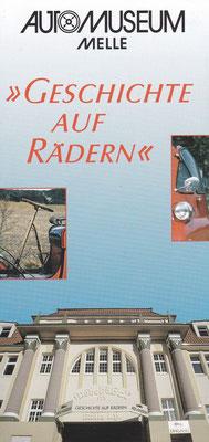 Folder Automuseum Melle (Duitsland).