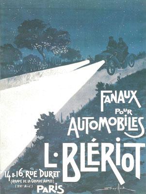 Advertentie voor verlichting van Blériot.