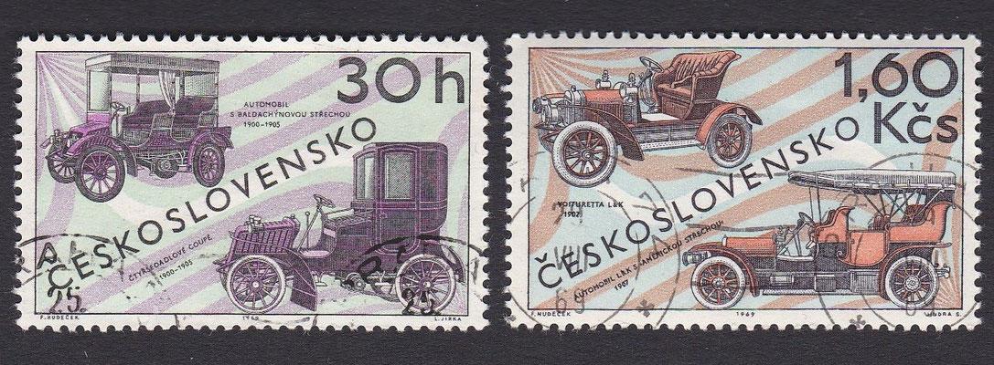 Postzegels Tsjecho-Slowakije uit 1969.