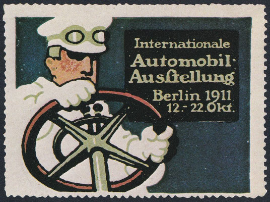 Sluitzegel Automobieltentoonstelling Berlijn 1911.