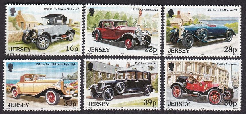 Postzegels Jersey uit 1992.