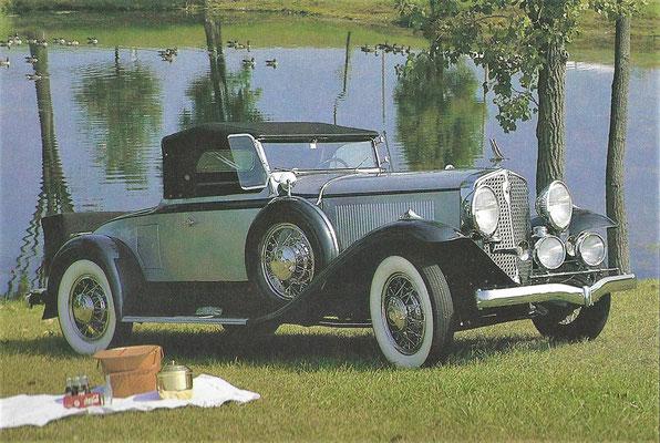Studebaker President Convertible uit 1931.